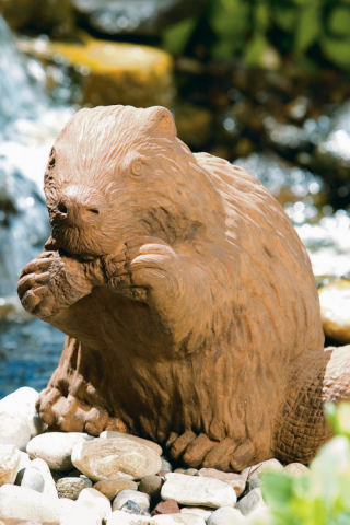 Beaver Gnawing Sculpture 13