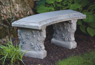 Vine Curved Garden Bench 39
