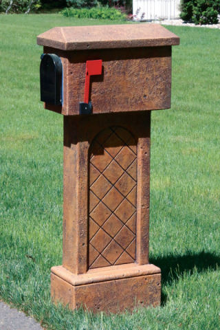 Cast Stone Mailbox Tile Design