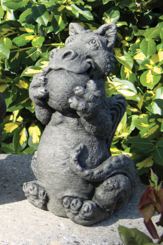 Lil Dragon Playing Ball Garden Statue