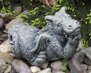 Little Dragon Dreamer Cast Stone Sculpture