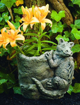 Flo Dragon Sculpture Garden Planter