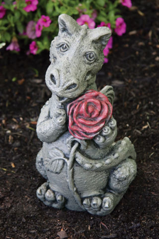 Little Dragon Rose Thorn Statue