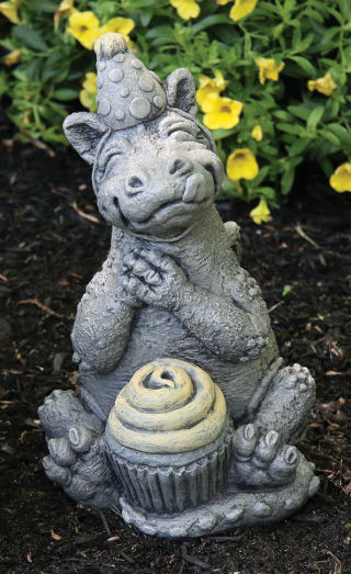 Lil Dragon Celebrate Garden Statue