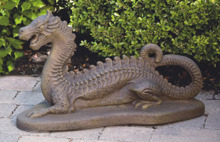 Dragon Cement Statue 16