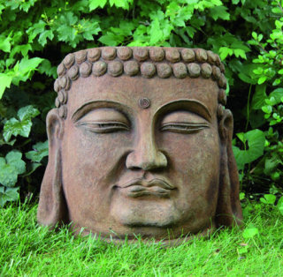 Buddha Face Garden Sculpture