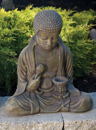Buddha With Lantern Statue 19