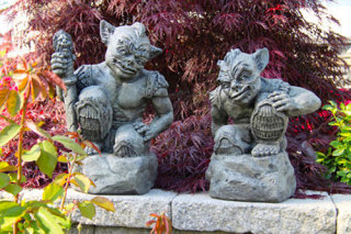 Goblin Guards Garden Statues