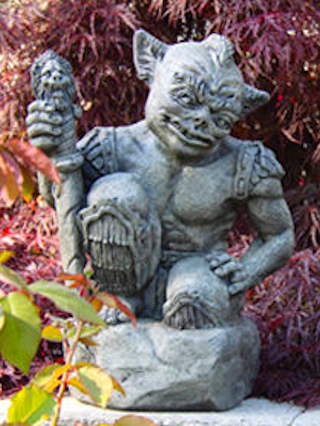 Goblin Guard with Sword Garden Statue