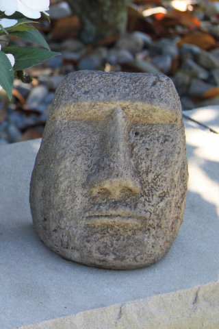 Easter Island Small Face Bust Statue