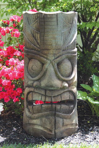 Island Tiki Face Garden Sculpture