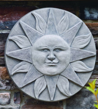 Sun Wall Plaque Large Garden Accent