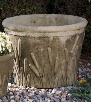 Cattail and Dragonfly Planter 18