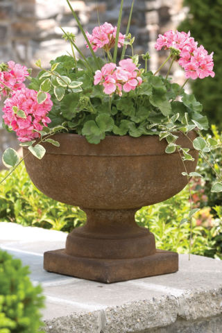 Plain Band Urn Cast Stone Planter