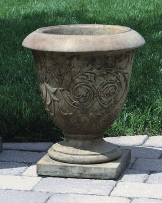 Jubilee Small Round Urn Planter Cement