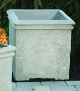 Double Rim Square Box Planter