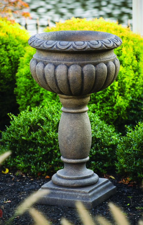 Egg & Dart Urn On Pedestal 33.5