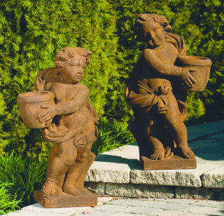 Cherubs Left & Right Roman Planters Garden Sculptures