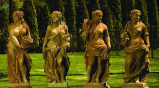 Four Seasons Life Size Garden Set of Statuary
