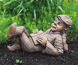 Nap Time Elf Garden Sculpture