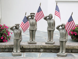 Armed Forces Women Military Branches Statues Set 27