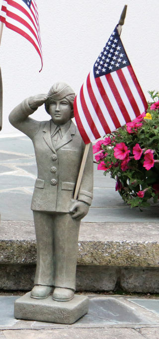 Air Force Woman Military Statue 27