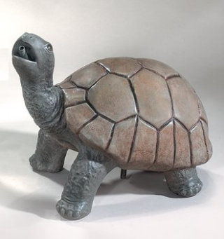 Turtle Standing Plumbed Spitting Statue 18