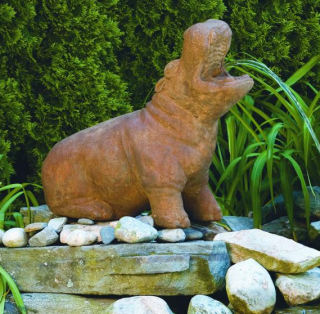 Hippopotamus Piped Water Feature Statue