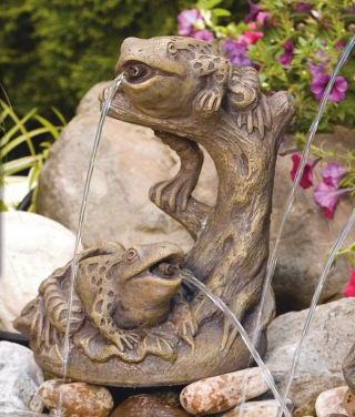 Garden Frogs Piped Water Feature Statue