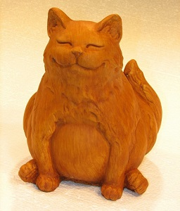 Happy Fat Cat Sculpture