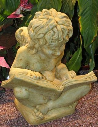 Cherub with book Sculpture