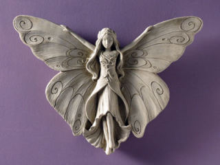 Madame Butterfly Wall Plaque Statue