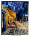 Cafe Terrace at Night by Vincent van Gogh Art Glass Replica