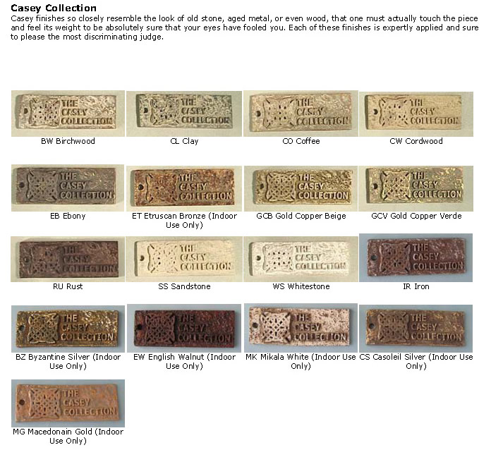 Casey collection architectural wall sculptures color choices for Environmental stoneworks pricing