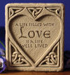 Celtic Love Stone Wall Plaque