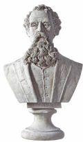 Charles Dickens Bust Sculpture Large
