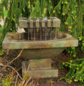 Chateau Garden Fountain Cast Stone with Light