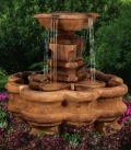 Classic Planter Pillar Fountain on Qua-trefoil Pool