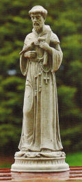 Classic Saint Francis with Dove and Cross Statue