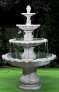 Classical Finial Fountain Four Tiered