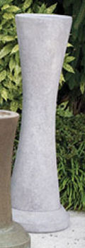 Contemporary Curved Cement Pedestal
