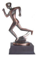 Contemporary Track Runner Sculpture Large