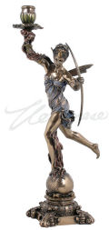 Diana of the Hunt Candle Holder Sculpture