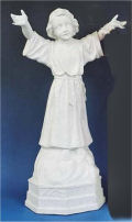 Divino Nino Sculpture or Divine Child Jesus Religious Statue White