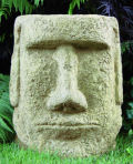 Easter Island Face Garden Sculpture