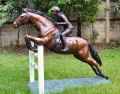 Equestrian Show Jumping Horse Bronze Statue