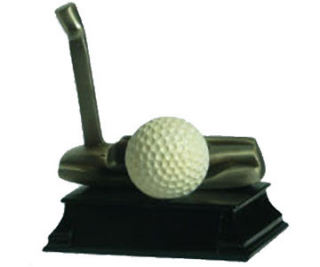 Golf Putter with Ball Trophy