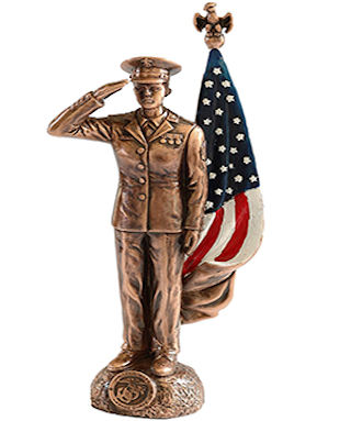 Female Marine Corp Soldier Statue
