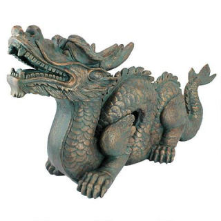 Asian Dragon Statue Large