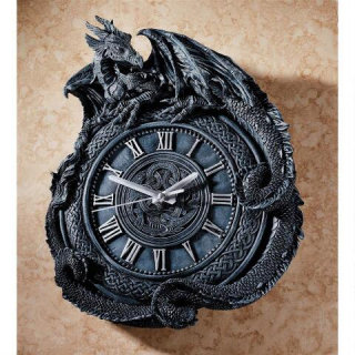 Penhurst Dragon Sculptural Clock